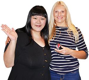 Lady Bay Resort業務經理Lydia Kippe(右)、大登產品管理部主任劉湘慧