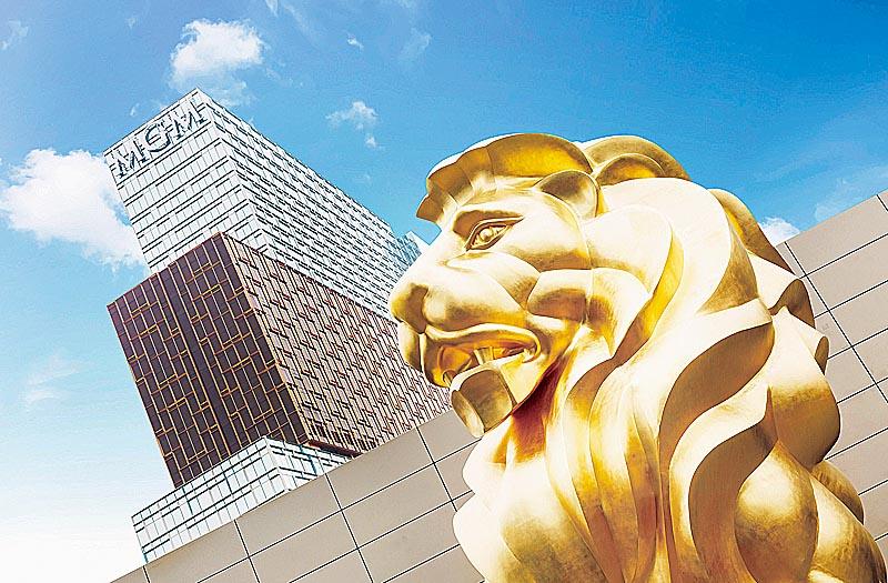 澳門美獅美高梅2017年下半年開業 11米高金獅全城焦點